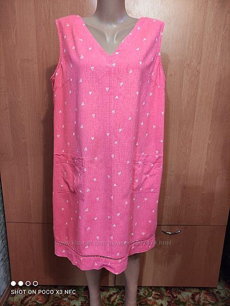 Льняное платье сарафан лён и вискоза пог-59 см
