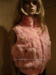 Летняя цена/Жилетка жилет розовый кролик новая.