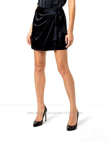 Новая черная атласная юбка XANAKA