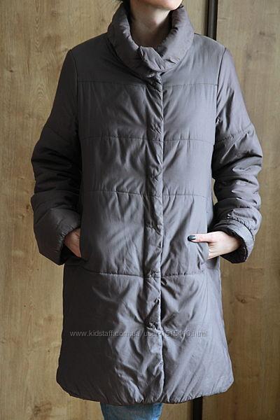 демисезонное стеганное пальто