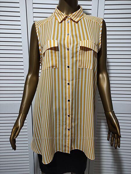 Удлиненная рубашка в полоску без рукавов Primark