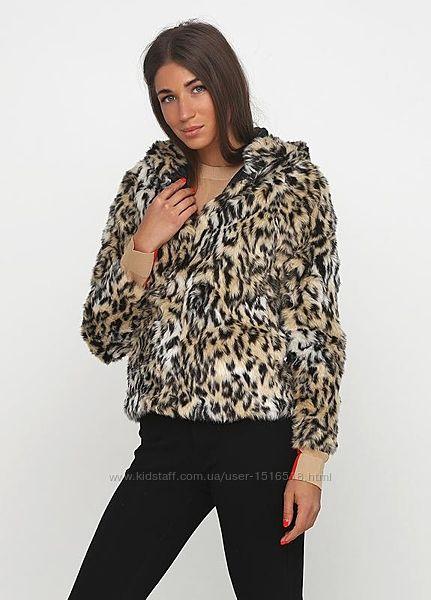 Легкая шубка с капюшоном полушубок с леопардовым принтом H&M