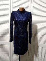 Шикарное платье с пайетками Paris