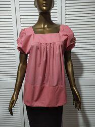 Хлопковая свободная блузка ZARA