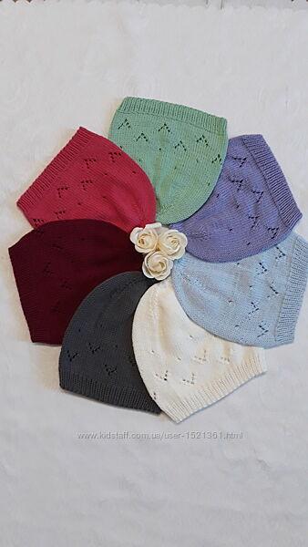 Шапочки дитячі вязані
