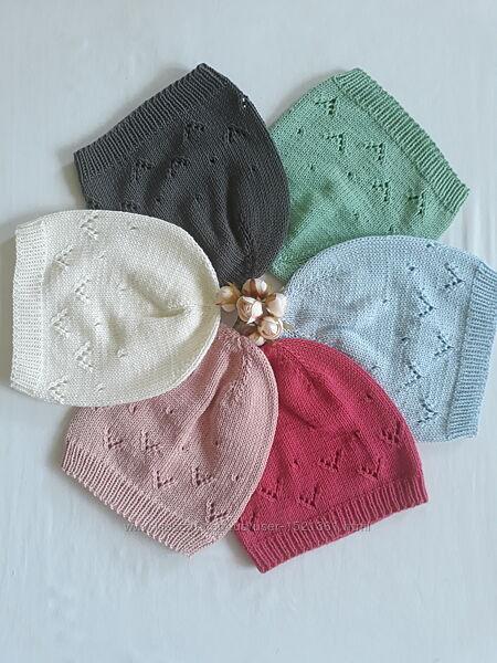 Шапочки вязані дитячі