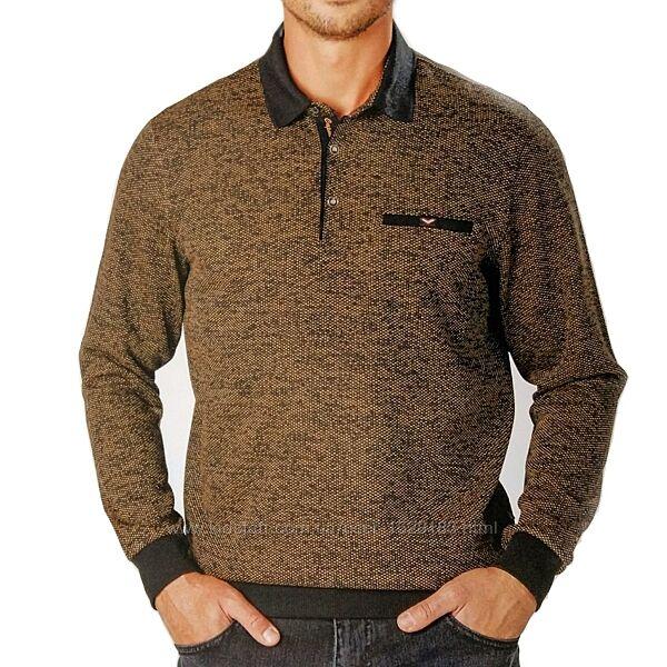 Мужская коричневая рубашка поло Caporicco Турция большого размера