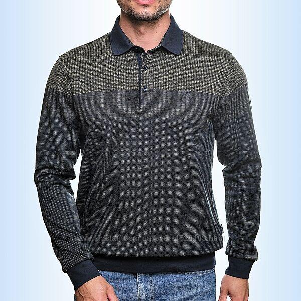 Оливковая мужская рубашка поло Caporicco Турция скидка