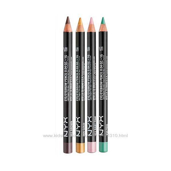 Карандаши для глаз и бровей NYX Slim pencil