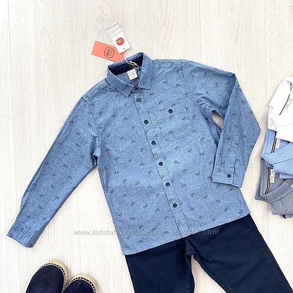 Голубая подростковая хлопковая рубашка для мальчика Cool Club Польша