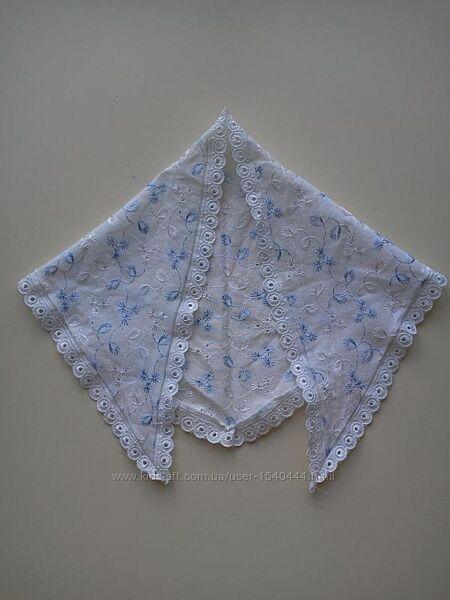Косынка из прошвы/натуральная ткань