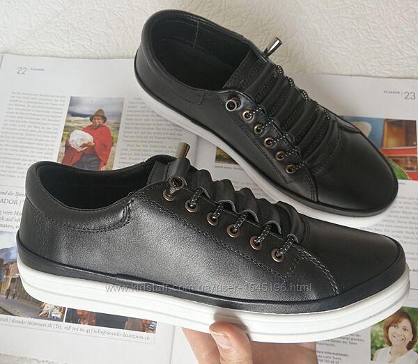 Mante X Находка Универсальные женские кожаные туфли кеды черные на резинке