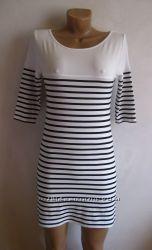 Платье мини в полоску new look