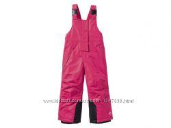 Зимние термо штаны, полукомбинезон для девочек, Lupilu