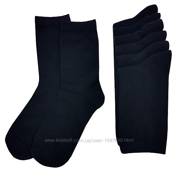 Классические однотонные черные носки на мальчика 11 лет, Primark