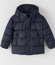 Демисезонная темно-синяя куртка на мальчика 152 р. , ZARA