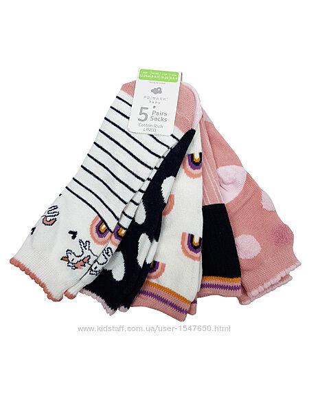 Носки для девочки, комплект носочков primark, германия