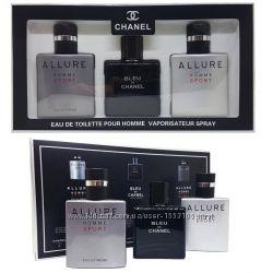 Подарочный набор для мужчин Chanel 3 по 25 ml