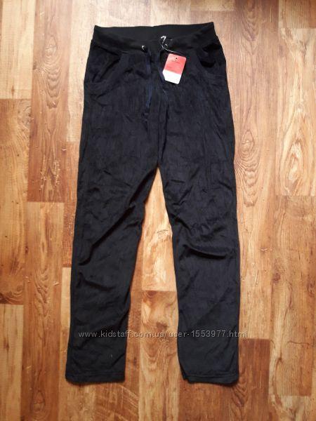 Черные велюровые брюки прямого кроя размер S, 34-7 Ю