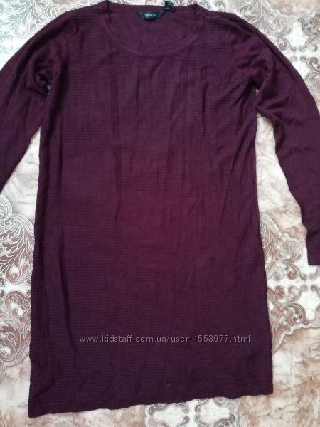 Модное вязаное вискозное платье, размер м40-42 id 33-19 mk
