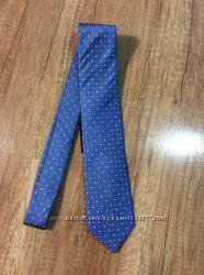 Синий шелковый галстук размер 7 см ID 35-18  О