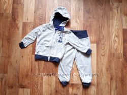 Детский велюровый комплект кофта и штаны размер 74-80, 39-12 Ю