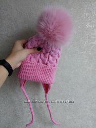В наличии шапка зимняя для девочки 46-48 см