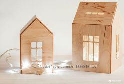 Деревянный домик конструктор на магнитах Babai для игрушек и декора