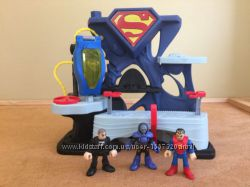 Imaginext дом станция Супермен джокер бетмен Fisher-Price Comics Mattel