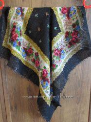 Платок  с люрексом шерсть 60х60 см