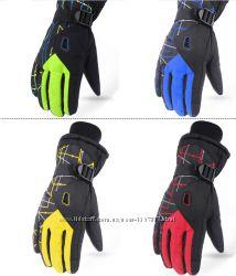 Зимние мужские перчатки горнолыжные лыжные спорт мото перчатки