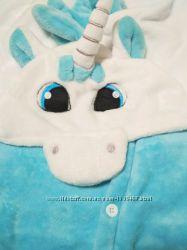 Кигуруми единорог бело-голубой 856c919ec1228
