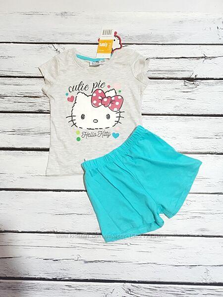 Комплект костюм летний на девочку hello kitty