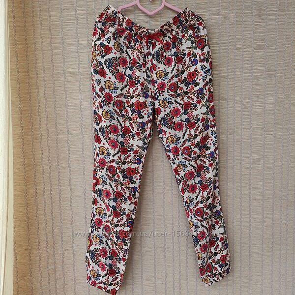 Летние легкие брюки для девочки 9-10 лет, 134-140