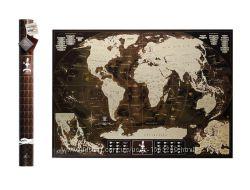 Скретч карта мира My Map Chocolate edition английский язык в тубусе