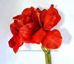 Амариллис, Н 116 см, Искусственные цветы, Днепр