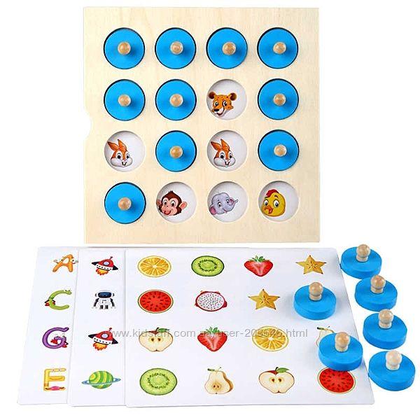 Монтессори Memory Match. Головоломка. Ранние развивающие игрушки