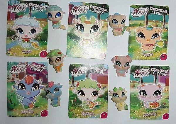 Набор фигурок Love & Pets Winx 4 семьи
