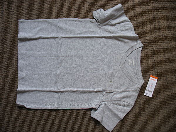 Продам футболку Gymboree с коротким рукавом, серую                128