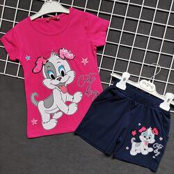 костюмы много цветов турция с котом и собакой 4-7 лет