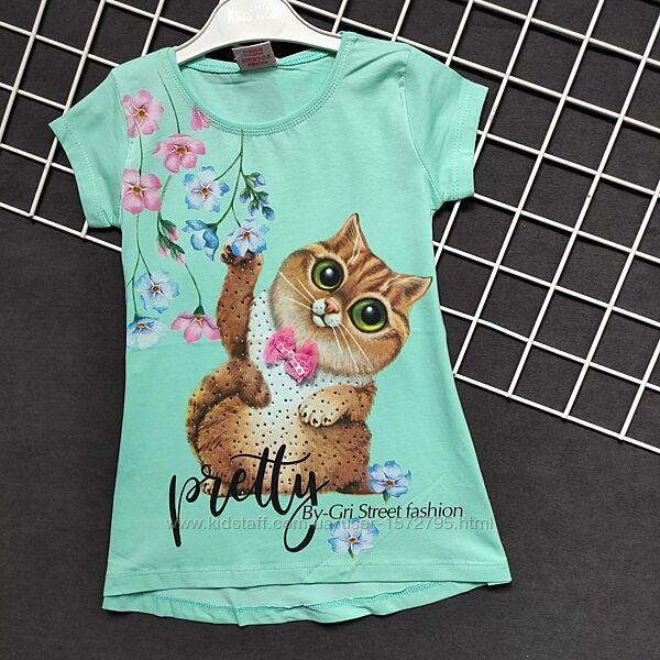 футболка  туника  Турция 110.116.122.128  3 цвета