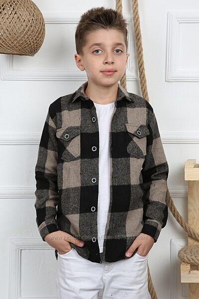 Тёплая рубашка для мальчика