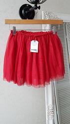 Красная фатиновая юбка пачка