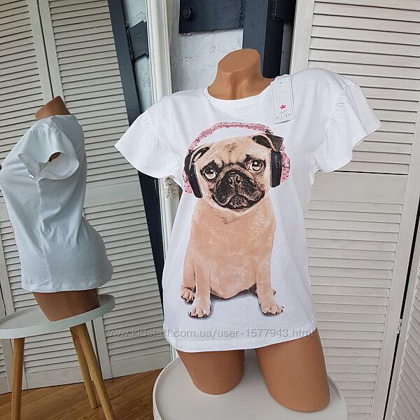 Трикотажная футболка с мопсом