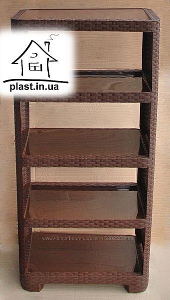 Пластиковая этажерка для обуви, игрушек, полка, обувная полочка, обувница