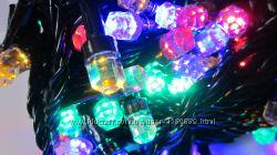 Новорічна гірлянда Рубін на 100 - 500 LED лампочок.  Новогодняя гирлянда.