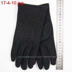 Мужские трикотажные перчатки с плюшевым утеплителем - 17-4-10