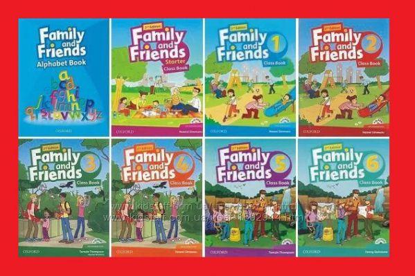 Новый комплект Family and Friends starter 1, 2 3 4 5 6 Все уровни