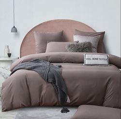 Однотонный постельный комплект из сатина Все размеры Цвет какао