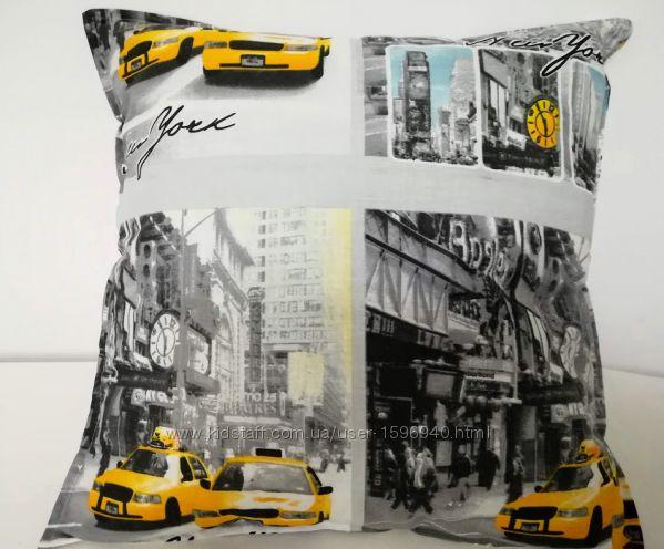 Тaxi Стильная яркая, мягкая декоративная подушка